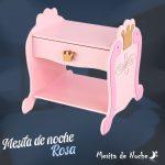 mesita de noche rosa