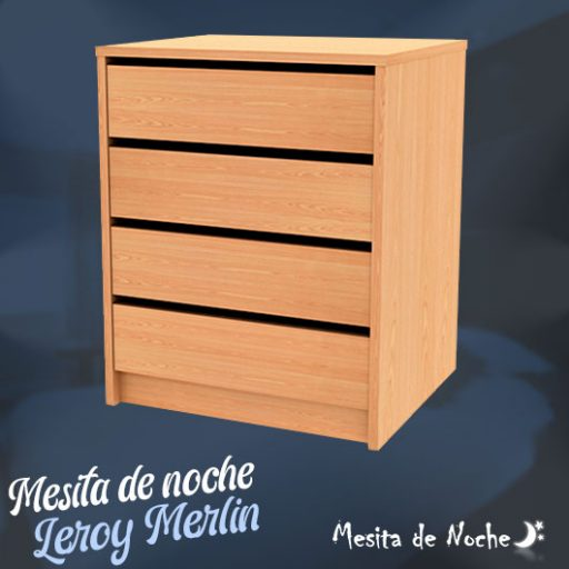 mesita de noche leroy merlin