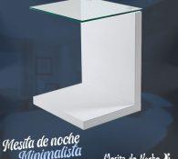 mesita de noche minimalista